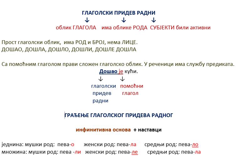 Glagolski pridev radni je prost i neličan glagolski oblik